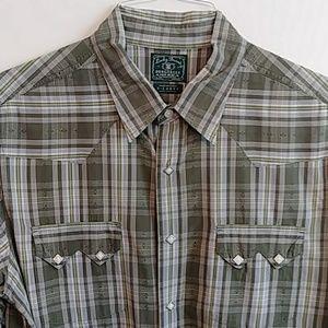 Lucky Brand Men's Western Shirt Sz XL